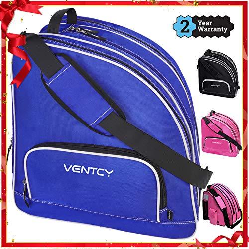 VENTCY Skischuhtasche Kinder Schlittschuhe Tasche Rollschuhe Tasche Eislauf Inliner Tasche Kinder Skifahren Nylon Rollschuhe Tasche mit Rucksackfunktion Skater Tasche für Kinder/Erwachsene