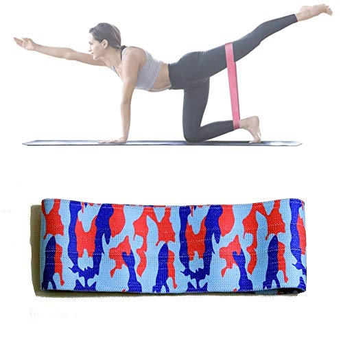 Resistance Band Übung Loops for Beine und Po, Workout Bands, Übungsbänder, Glute Bands, Booty Bands for Frauen, gut for Home Fitness, Yoga, Pilates Bent Leg Abduction, Hüftstreckung Hamstring Curls (G