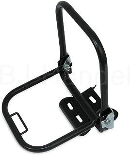 Gepäckträger hinten S50, S51, S70 schwarz im Satz (mit kurzen Stützbügel + Schutzblechhalter)