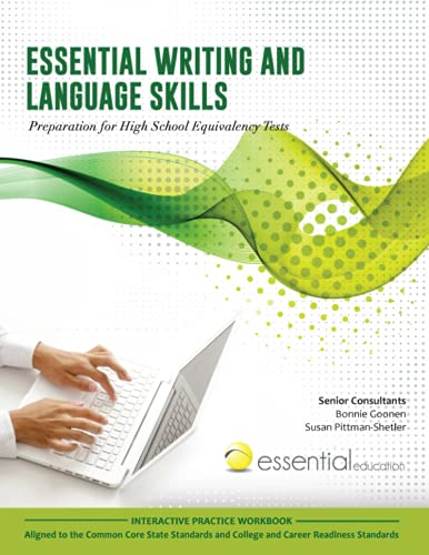Essential Writing and Language Skills: Preparation for High School Equivalency Tests