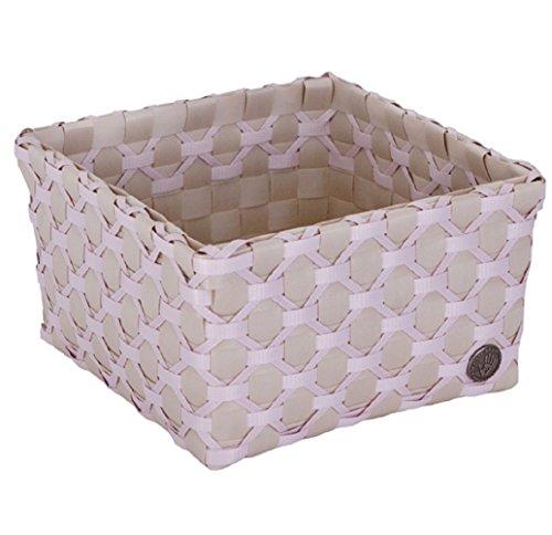 Handed Baby Box ALBI Panier décoratif Gris Clair/crème/Rose