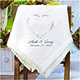 Personalized Wedding/Couples Chenille Blanket/Afghan. Lightweight Embroidered 50' x 60'