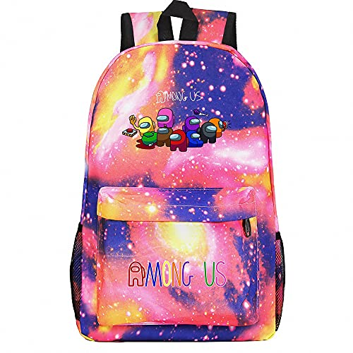 BAOYIHAI Among us Mochila para niños, Kinder Racksack para 6-16 años Mochilas Escolares para niños y niñas con Cinturones de Seguridad Color