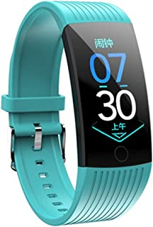 Runhuagao Q18 Voguish Bracelet Color Screen 1.14 Inch Burnished Screen Waterproof Countdown to Measure Heart Rate Blood Pressure Function it is Suitable for Any Occasion. (Color : Green)