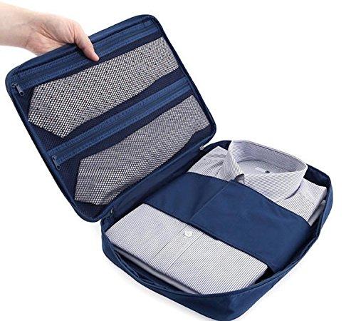 Ducomi® Cloonie Organizer da Viaggio per Camicie e Cravatte (Navy)