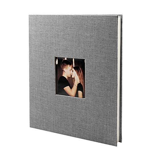 VEESUN Fotoalbum zum Selbstgestalten Mit Fenster, 28cmx27cm Album 20 Sheets Selbstklebend Scrapbook...