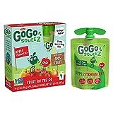 GoGo squeeZ Applesauce, Apple Strawberry, 3.2 Ounce (48 Pouches), Gluten Free, Vegan Friendly,...