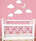 Cloud Wall Decal Clouds Decals Moon and Stars Cloudy Sky Baby Room Wall Decal Children Gift Bedroom Nursery Boy Girl Vinyl Stickers Wall Decor Playroom Murals by DecorimDecorWallDecal