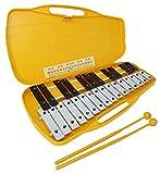 Glockenspiel carrillon metalofono xilofono DEEP DG27N2 cromático, 25+2 teclas con estuche y mazas -...