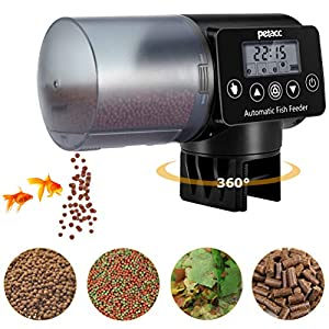Petacc Automatic Fish Feeder ,Programmable Moisture-Proof Electric Auto Fish Feeder for Aquarium