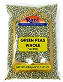 Rani Green Peas Whole, Dried (Marrowfat Peas, Vatana, Matar) 4lbs (64oz) ~ Used to make Mushy Peas   All Natural   Vegan   Gluten Friendly   Product of USA