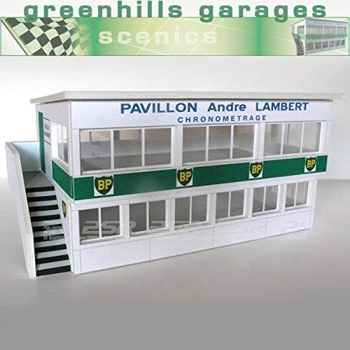 Greenhills Scalextric Slot Car Building Reims Press Box Kit 1:32 Scale