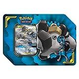 Pokemon 728192504983 TCG: Tag Team Lucario & Melmetal Tin | 4 Booster Pack | 1 Metal Tag Team Gx Marker | 1 of 3 Foil Tag Team Pokémon-GX, Multicolor