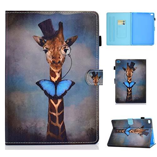 Bspring iPad 9.7 Zoll 2018 2017 / iPad Air/iPad Air 2 Hülle - Folio Slim Fit PU Leder Schutzhülle Cover Case mit Auto Schlaf/Wach Funktion für Apple iPad 9,7 Zoll,Giraffe