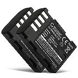 CELLONIC 2X Batterie Compatible avec Panasonic GH5 Lumix DC-GH5s DMC-GH4 GH4 GH4r GH4h GH3 Lumix DMC-GH3h GH3a G9 Lumix DC-G9, DMW-BLF19 DMW-BLF19E -BLF19PP 1600mAh Accu Rechange Remplacement
