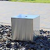 CLGarden Edelstahl Element Würfel 35 für Springbrunnen Quader Block DIY Design Brunnen modern
