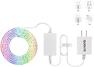 Quotra Wireless ZigBee Smart RGB WW Hue White LED Strip Lights Kit,HUB Required:Hue,Echo Plus.Works with Philips Hue App Remote,Compatible with Alexa,Google Home.Better Than WiFi. 80-inch Starter Kit