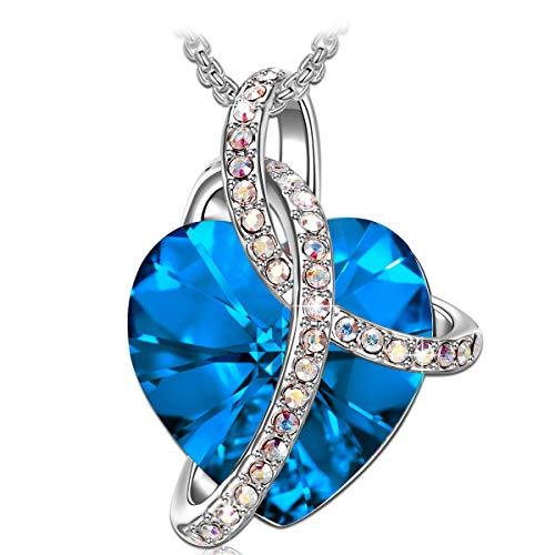 Gioielli Donna, Collana Donna, Ciondolo Cuore, con cristalli di Swarovski, regalo donna, Collana Cuore