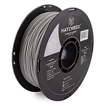 HATCHBOX PLA 3D Printer Filament Dimensional Accuracy +/- 0.03 mm 1 kg Spool 1.75 mm Gray