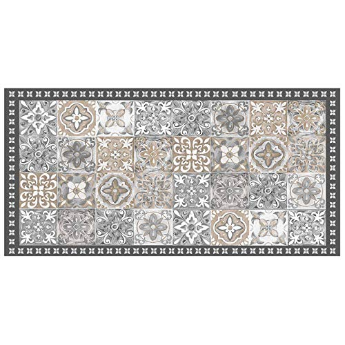 Alfombra Decorativa para Interiores (Rectangular, Vinilo Alicante Natural, 50 x 100 cm)
