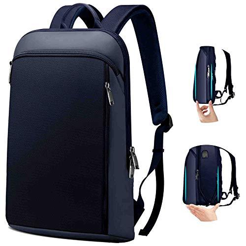 ZINZ Delgado y Expandible Mochila para Portátil Antirrobo Backpack 15 15,6 16 Pulgadas Mochila Negocio Multiusos Bolso para PC de Gran Capacidad para Hombre Mujer Estudiante -Azul