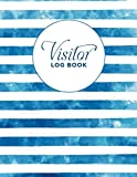 Visitor Log Book: Guestbook, For Signing In and Out! Sign In Sheet, Visitor Register Book, Visitors Notebook,Visitor Log Book/Visitor Register/Visitor ... Book. ( Blue stripes Motive large soft cover)