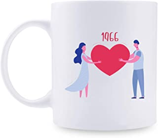 54th Anniversary Gifts - 54th Wedding Anniversary Gifts for Couple, 54 Year Anniversary Gifts 11oz Funny Coffee Mug for Couples, Husband, Hubby, Wife, Wifey, Her, Him, heart