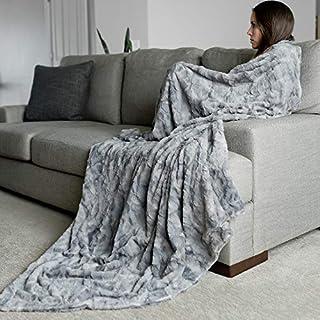 "Oversized Softest Warm Elegant Cozy Faux Fur Home Throw Blanket 60"" x 80"" by.."