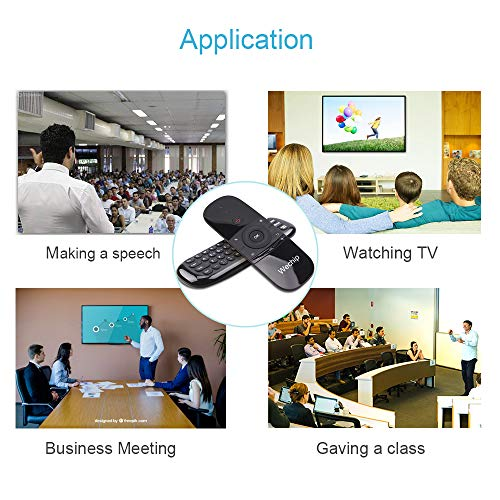 Air Mouse Télécommande, RunSnail Télécommandes Sans Fil avec Fonction Souris et Clavier pour Android TV Box / Smart TV / Ordinateur / PC portable / Projecteur / HTPC / IPTV / Media Player