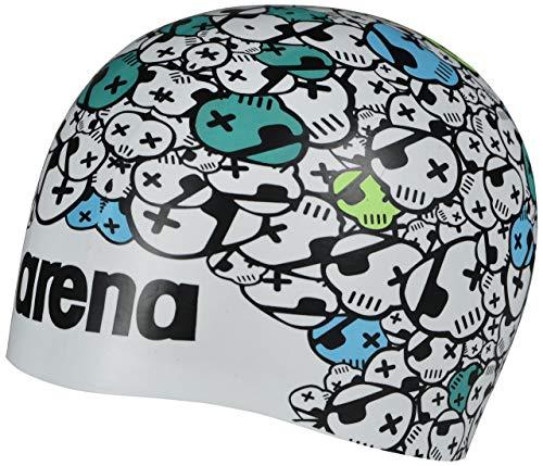 Arena Poolish Moulded Swim Cap, Skulls White