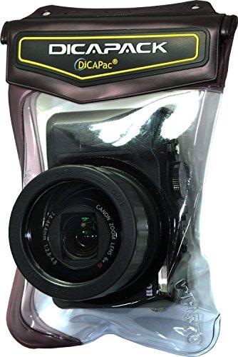 Dicapac WP-570 - Unterwasserkameragehäuse (10 m, PVC, Polycarbonat, Silikon, Transparent, Schwarz, Samsung VLUU WB, Kenox Canon IXUX, IXY, Powershot, Powershot A, Powershot S, Powershot SD Pansonic..., 130 mm, 190 mm)