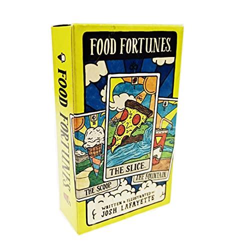 Fortunes de Comida Tarot Fortunes Tarjetas Tarot Tartas Divinación Deck Entertainment Fiest Juego Juego de Mesa Ven y Juega Cuando Tienes Hambre