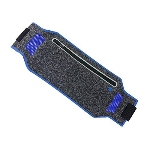 VOSAREA Running Hüfttasche wasserdicht atmungsaktiv Einstellbare Gürtel Fanny Pouch fit iPhone X 8 Plus Samsung Hinweis 8 Google Pixel Idee für Laufen Radfahren Wandern Fitness (blau)