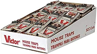 Victor M154 Metal Pedal Mouse Trap, (Pack of 8)