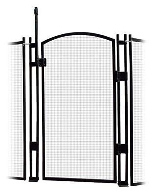 EZ-Guard 5' Tall Self Closing/Self Latching Pool Fence Gate (Black)