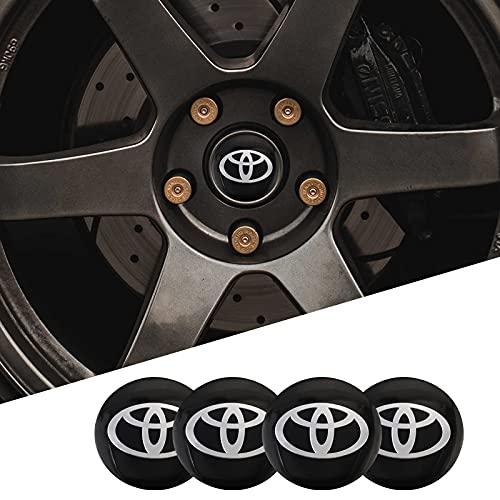 Tapas De Cubo De Centro De Rueda 4 unids 56mm Etiquetas de rueda de coche Centro Centro Hub Cap Coche Emblema Insignia Calcomanía Compatible con Toyota Corolla Camry Rav4 Yaris Auris Chr Avensis Verso