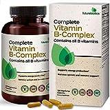 Futurebiotics Complete Vitamin B Complex (Vitamin B1, B2, B3, B6, B9 - Folic Acid, B12) Contains All B Vitamins - Non GMO, 120 Vegetarian Capsules
