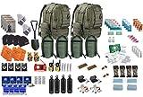 TSK Four Person Emergency Survival Kit Bug Out Bag Fluchtrucksack (Olive)