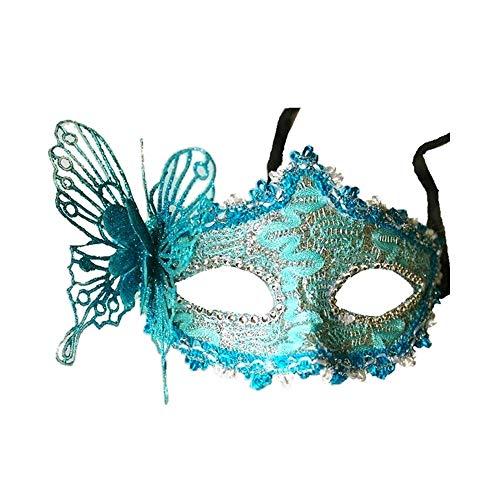 Art und Weise Frauen reizvolle Spitze-Maskerade-Maske Maske Venetian Schmetterling Halbmaske Blue 3d
