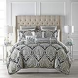 Croscill Dianella Queen Comforter Set, Black