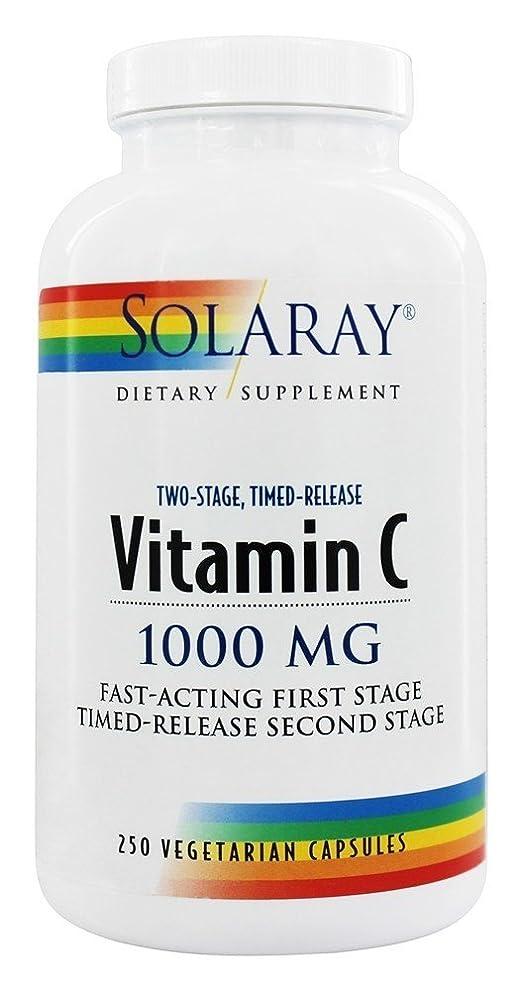 封筒タイプ東部海外直送品 Solaray Vitamin C 1000mg Two Stage Timed Release - 250 - Capsule