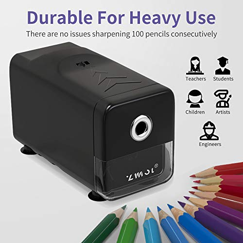 Electric Pencil Sharpener Heavy Duty,Pencil Sharpener for Classroom,Commercial pencil sharpener for 6-8mm No.2/Colored Pencils, Best Pencil Sharpener,Auto-Stop,Super Fast&Sharp(Pencil Sharpener Only) Photo #5