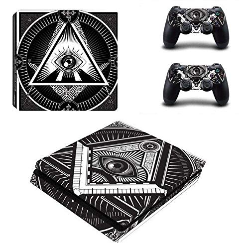 All-seeing Eye PS4 Whole Body Vinyl Skin Sticker Decal Cover for Playstation 4 System Console and Controllers by QUATLAMSHOP(Beautiful Skin)