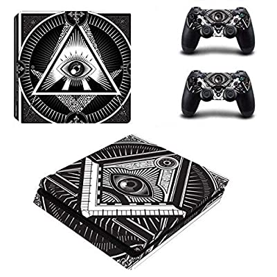 All-seeing Eye PS4 Whole Body Vinyl Skin Sticker Decal Cover for Playstation 4 System Console and Controllers by Mr Wonderful Skin