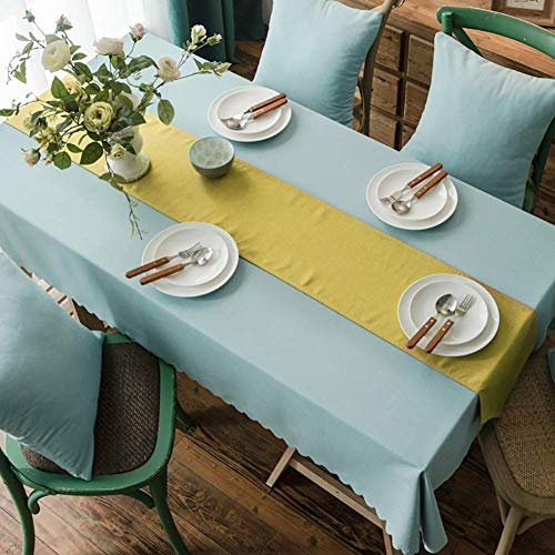 YUBIN Tablecloth Large Rectangle Tablecloth Round Outdoor Tablecloth With Parasol Hole Roundoilcloth Tablecloth Grass Tablecloth Green Wipe Clean Tablecloth Sequin Tablecloth Turquoise Tablecloth Blue