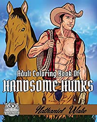Adult Coloring Book Of Handsome Hunks