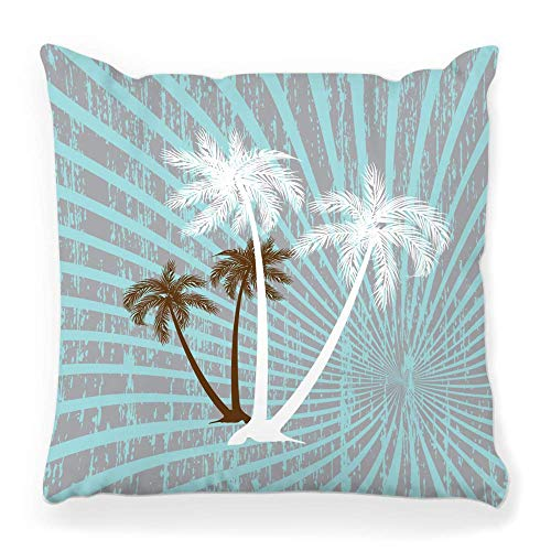 Fantastic Fairy Soft Square Pillow Cover 20x20 Summer Palm Tree Beach Fire Birds Blue Coast Color Colored Curve Dirty Effects Elegance Energy