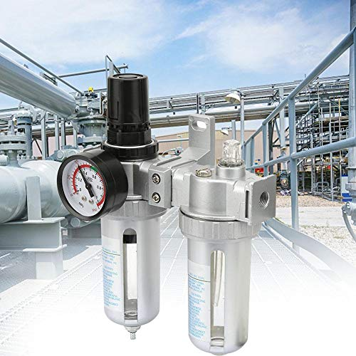 Lucht bronbehandelingsset, luchtdruk compressor regulator filter smeerolie water regulator met manometer (SFC400-1/2