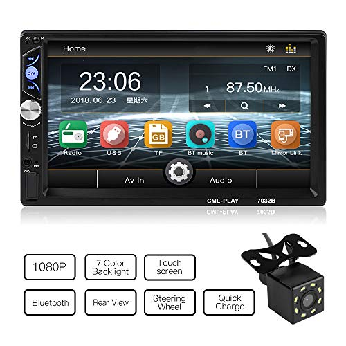MiCarBa Universal 7-Inch HD 1024 * 600 Double Din Car Stereo Video...