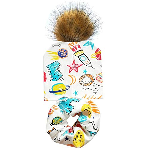 Babymuts voor de lente, herfst, pompon, kogelmuts, katoen, voor jongens en meisjes, sjaal, set grappige hoed, kindermuts, sport cilinder